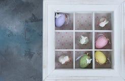 Ovos de Easter na caixa Fotos de Stock Royalty Free