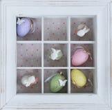 Ovos de Easter na caixa Fotografia de Stock Royalty Free
