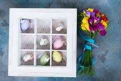Ovos de Easter na caixa Imagens de Stock Royalty Free