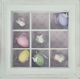 Ovos de Easter na caixa Foto de Stock