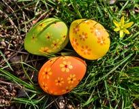 Ovos de Easter na grama Imagem de Stock Royalty Free