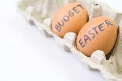 Ovos de Easter na retirada fotografia de stock