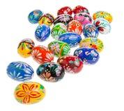 Ovos de Easter no fundo branco Imagem de Stock Royalty Free