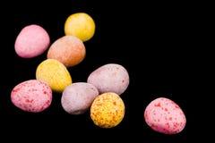 Ovos de Easter no preto Foto de Stock