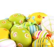 Ovos de Easter Pastel e coloridos Fotografia de Stock