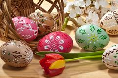Ovos de easter pintados Foto de Stock Royalty Free