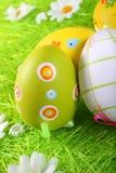 Ovos de Easter pintados foto de stock