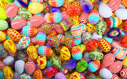 Ovos de easter pintados Imagens de Stock