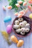 Ovos de easter pintados decorativos Fotografia de Stock