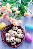 Ovos de easter pintados decorativos Foto de Stock