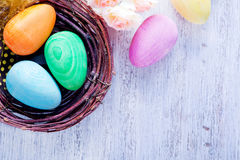 Ovos de easter pintados decorativos Imagem de Stock