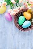 Ovos de easter pintados decorativos Foto de Stock Royalty Free