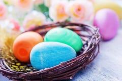 Ovos de easter pintados decorativos Fotos de Stock Royalty Free