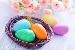 Ovos de easter pintados decorativos Imagens de Stock Royalty Free