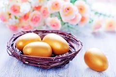 Ovos de easter pintados decorativos Imagens de Stock