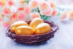 Ovos de easter pintados decorativos Fotografia de Stock Royalty Free