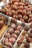 Ovos de Easter pintados mão Fotografia de Stock