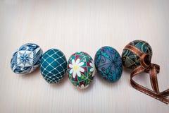 Ovos de Easter pintados mão Imagens de Stock