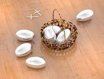 Ovos de Easter tingidos Fotografia de Stock Royalty Free