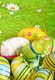 Ovos de Easter um fundo imagem de stock royalty free