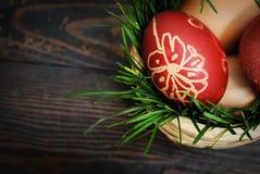 Ovos de easter vermelhos Fotografia de Stock Royalty Free