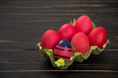 Ovos de Easter vermelhos Foto de Stock Royalty Free