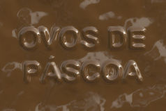 Ovos de Pascoa (Text serie) Royalty Free Stock Image
