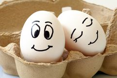 Ovos de sorriso Imagens de Stock
