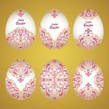 Ovos decorativos florais Fotos de Stock Royalty Free