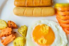 Ovos do café da manhã Fotos de Stock Royalty Free