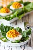 Ovos do caril. imagens de stock