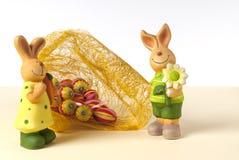 Ovos do coelho e de Easter Imagem de Stock