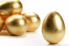 Ovos do ouro Imagens de Stock Royalty Free