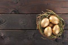 Ovos dourados Fotografia de Stock Royalty Free