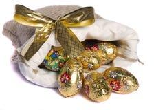 Ovos dourados doces Imagem de Stock Royalty Free
