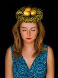 Ovos dourados no ninho Imagem de Stock Royalty Free