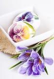 Ovos e açafrões de Easter Fotos de Stock