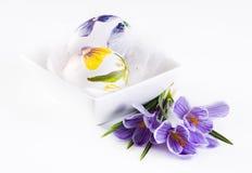 Ovos e açafrões de Easter Fotografia de Stock