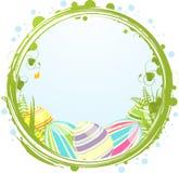 Ovos e beira de Easter Fotos de Stock Royalty Free