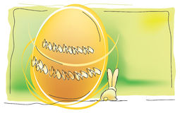Ovos e coelho de Easter Ilustração Royalty Free