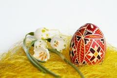 Ovos e flocos de neve de Easter Imagens de Stock Royalty Free