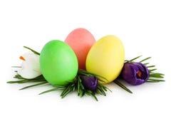 Ovos e flores de Easter fotos de stock
