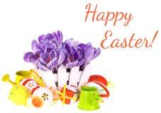 Ovos e flores de Easter Imagens de Stock Royalty Free