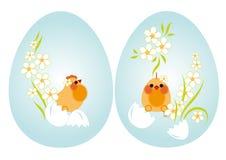 Ovos e galinhas de Easter Ilustração Royalty Free