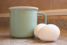 Ovos e leite frescos Foto de Stock Royalty Free