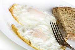 Ovos e pão Fotografia de Stock