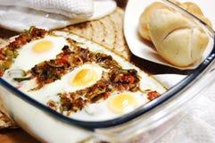 Ovos e pequeno almoço dos cogumelos fotografia de stock royalty free