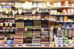 Ovos e produtos láteos Imagens de Stock