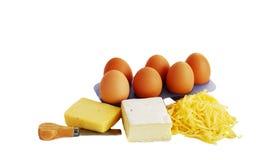 Ovos e queijo Foto de Stock Royalty Free