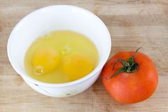 Ovos e tomates imagem de stock royalty free